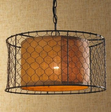 En Wire With Burlap Drum Pendant Lighting Shades Of Light Http