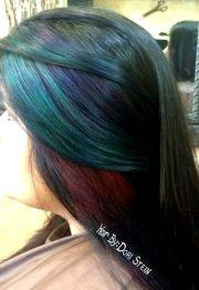 emerald green hair aqua hair