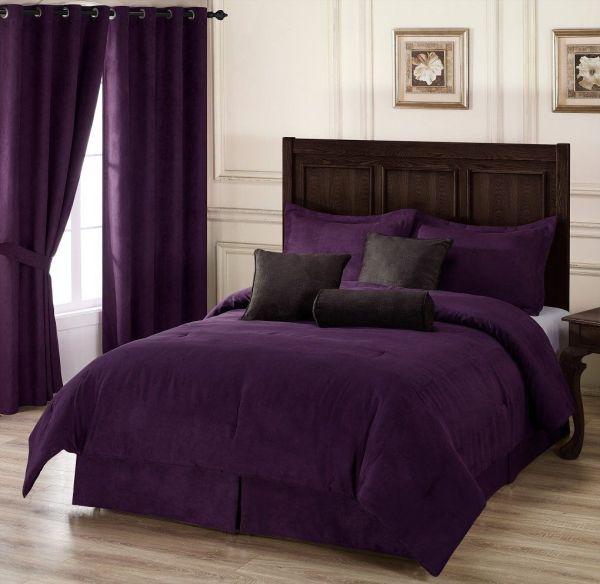 Purple Queen Bedding Comforter Set