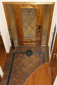 Custom Entryway Grand Foyer Floor Tile Medallion And ...