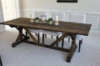 Wooden Farmhouse Table Plans DIY blueprints Farmhouse ...