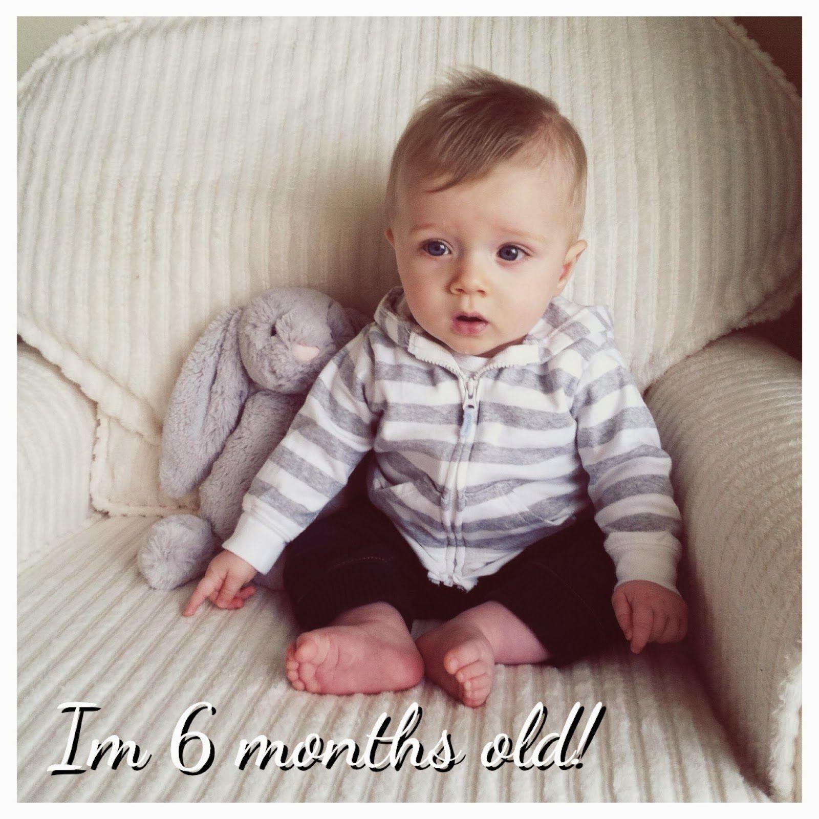 6 Month Old Photo Half Birthday Photo Mom Blogger Baby