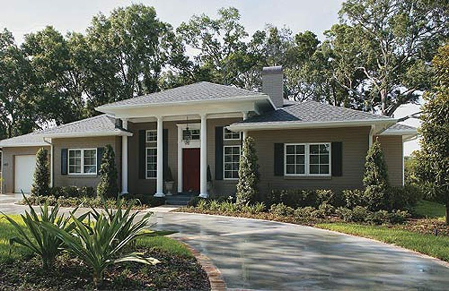 Ranch Style House Remodel Before & After The Roof Style And