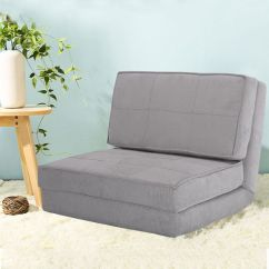 Your Zone Flip Chair Green Glaze Banana Leaf Dining Room Chairs Costway Fold Down Out Lounger Convertible Sleeper Bed Couch Game Dorm Guest Gray
