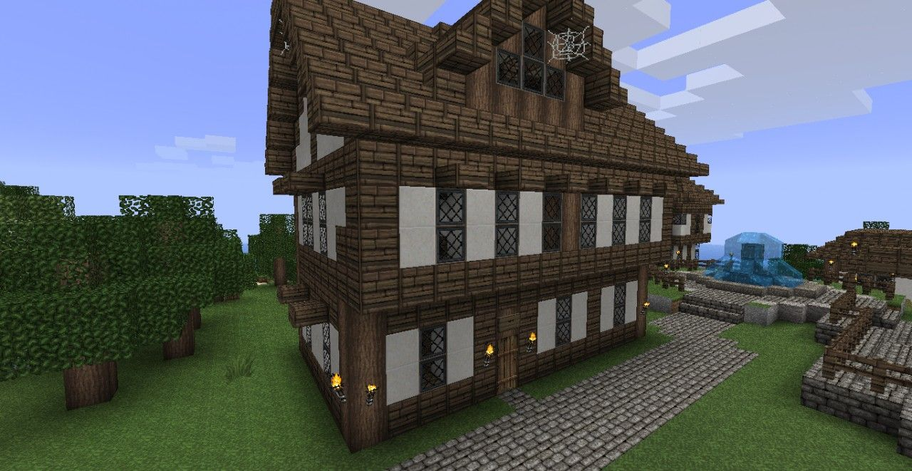 Minecraft Village House Medieval Seaside Village Town Minecraft