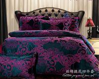 European bedding sets/dark purple bedding Cover set/Brand