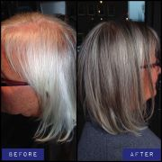 grey hair with highlights