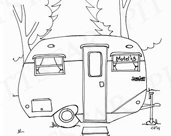 Instant Download Vintage Airstream Travel Trailer by