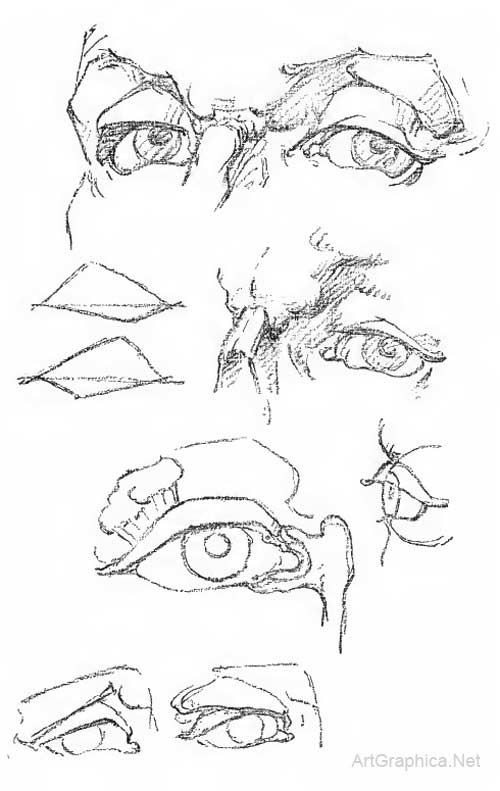 Drawing Ears, Eyes, Mouth and Nose Page 08 / 12 Art Book