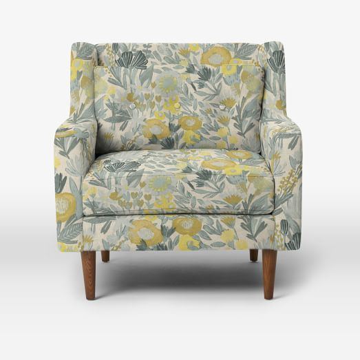 west elm crosby chair kelsyus canopy mid century armchair armchairs living room chairs and love this fabric for a pillow maybe
