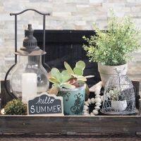 Summer farmhouse coffee table vignette   Seasons: Summer ...