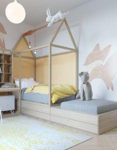 Chambre enfant lit baldaquin also decoration intemporelle pour une   enfants kids rooms rh pinterest