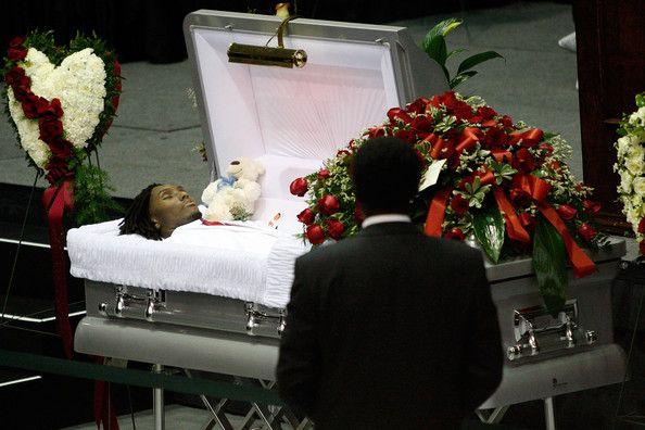 Left Eye Funeral Open Casket Body