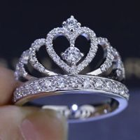 Invincible Glittering Tiara Silver Fake Diamond Crown ...