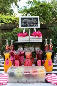 Kate Spade Theme Mimosa Bar | Weddings :: Bridal Showers ...