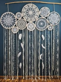 This stunning giant dream catcher wall hanging will become
