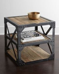 INDUSTRIAL WOODEN NIGHTSTAND | Once again, wooden and ...