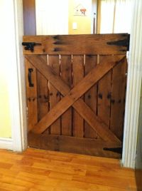 Baby or Dog Gate Made With Only One Pallet | Barn door ...