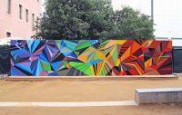 Colorful Geometric Graffiti Murals | Inspirations ...