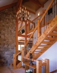 post and beam staircases | attached images | Ideas for the ...
