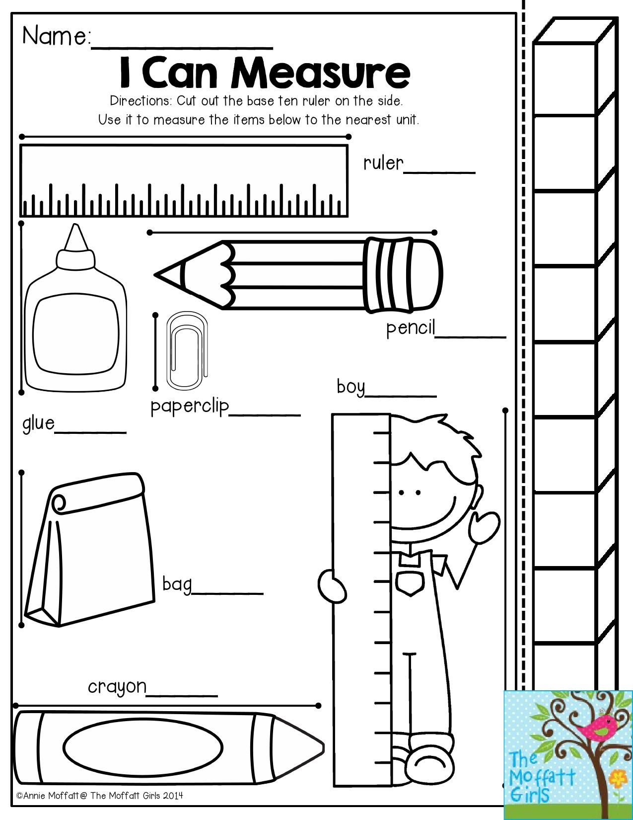 Worksheet Measurement In Feet