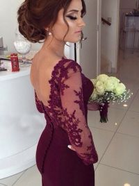 Buy Elegant Prom Dress/Evening Dress - Burgundy Mermaid ...