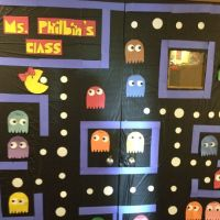 Miss Pacman door decoration | Work decoration ideas ...