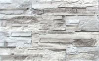 white and gray stacked stone fireplace | Stacked Stone ...