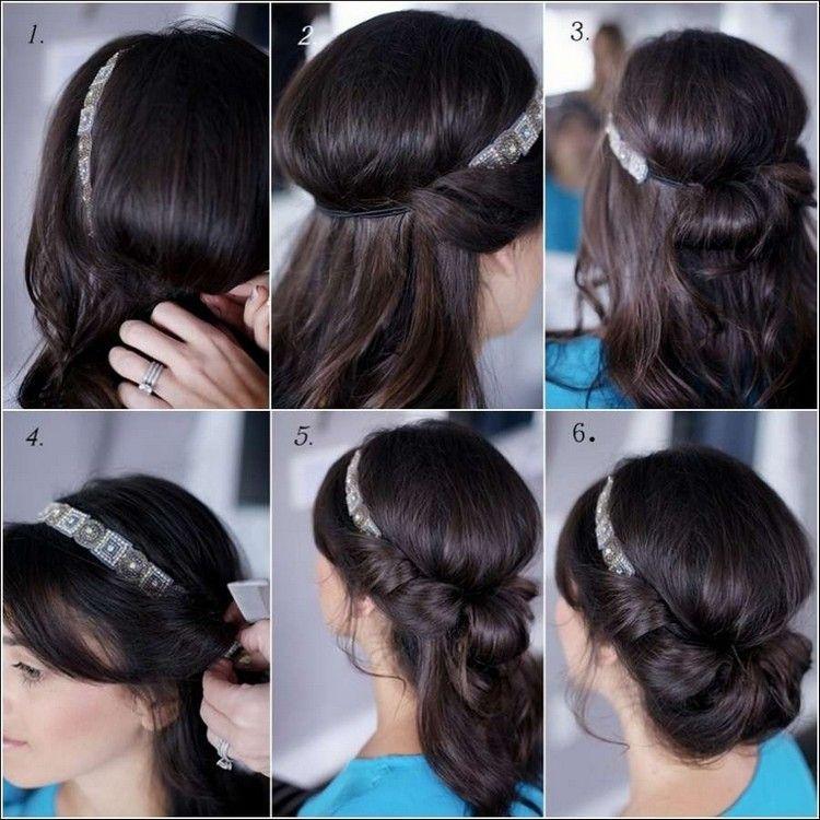 Dutt Haarband Anleitung Google Suche Frisuren Pinterest