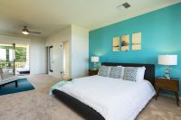 turquoise accent wall bedroom - Google Search | Master Bed ...