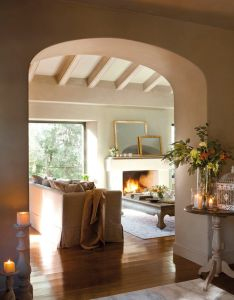 Blulilly   via haute design by sarah klassen interior  gentle spacious home   gorgeous alcove also vivir en un parque natural elmueble casas deco rh pinterest