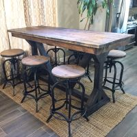 Rustic Pub Table | Furniture | Pinterest | Basements, Bar ...