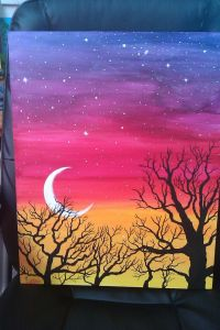 easy acrylic painting ideas trees - Google Search | Canvas ...