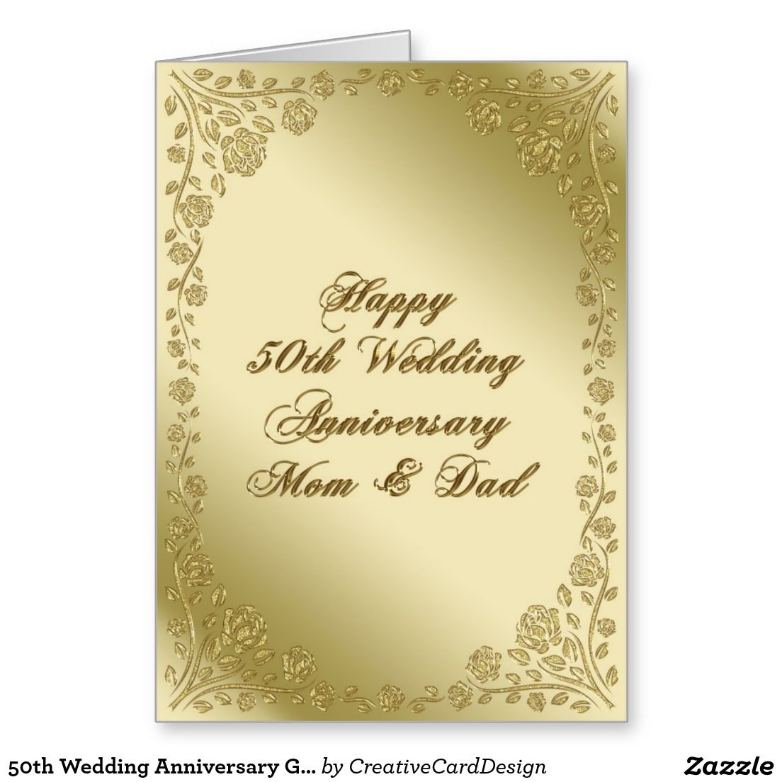 50th Wedding Anniversary Greeting Card  50th Wedding