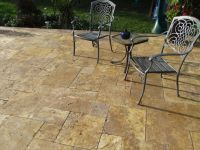 Scabos Travertine French Pattern | Antique Gold Travertine ...