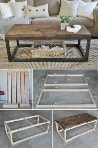 20 Easy & Free Plans to Build a DIY Coffee Table | Diy ...