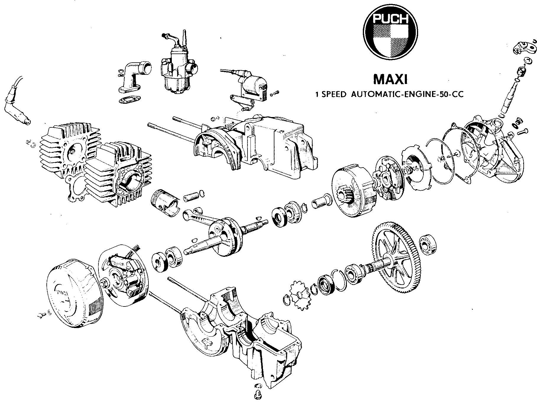 puch maxi wiring diagram 2002 bmw e46 radio handy of the e50 engine mopeds  lil 39chopz