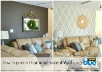 How to paint a diamond accent wall. Using ScotchBlue ...