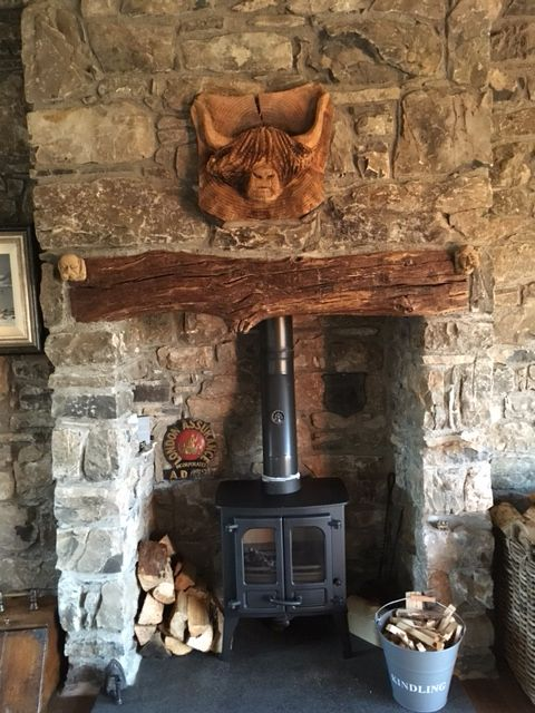 primitive country living room colors walnut furniture charnwood island 1 stove in scottish cottage stone ...