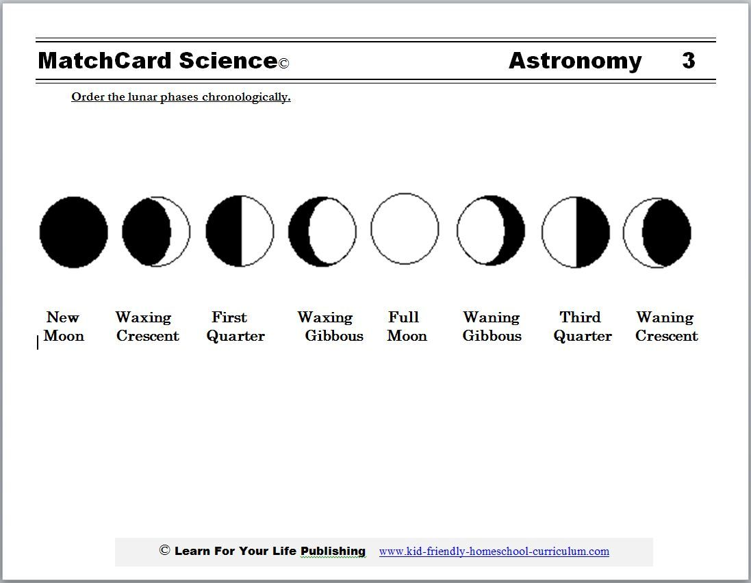 Moon Cycle Diagram Printable Phases Phase