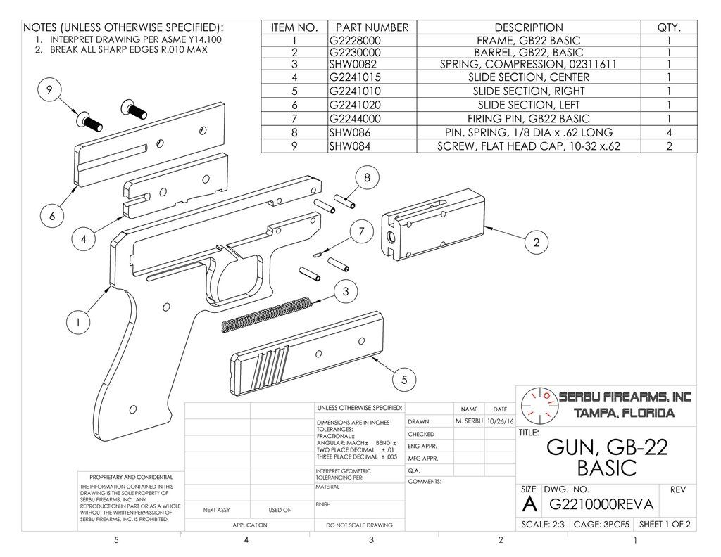 Gb 22 Plans Serbu Firearms