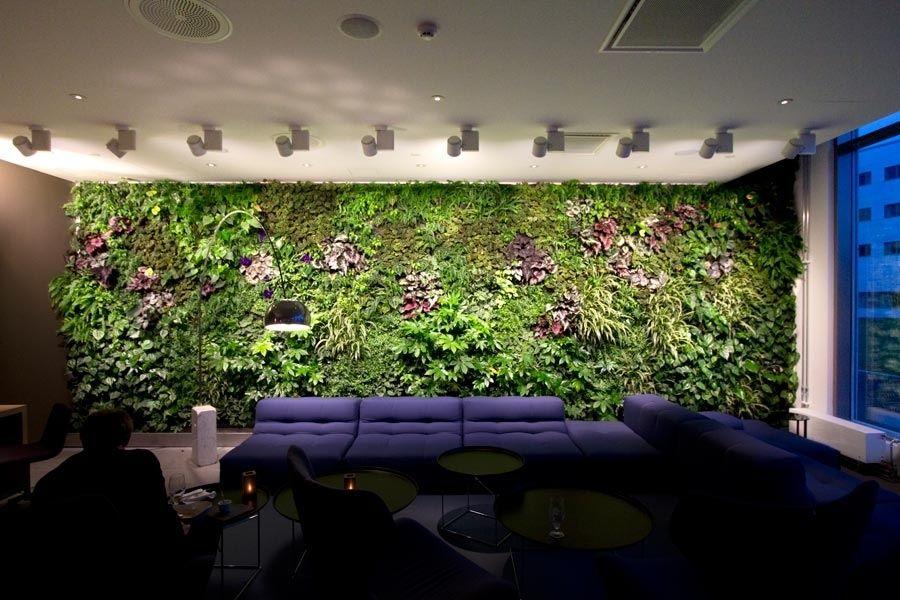 Modern Indoor Residential Vertical Gardens Office Waiting Room