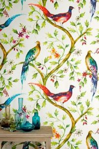 Exotic Birds Design Wallpaper - Jungle Paradise Birds ...