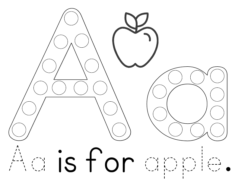 A Heart For Home: Free Printable: Aa is for Apple Tot