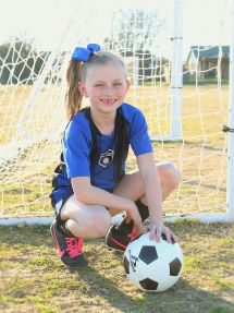 Girls Individual Soccer Poses