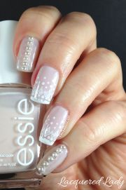 classic nail design with pearls