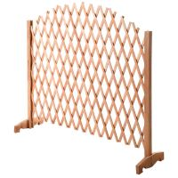 Expanding Portable Fence Wooden Screen Dog Gate Pet Safety ...