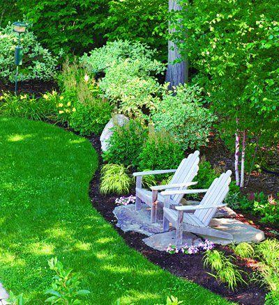 defining garden spaces sitting