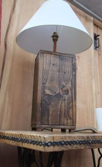 Tall Rustic Wood Lamp Base / Chunky Reclaimed by ...