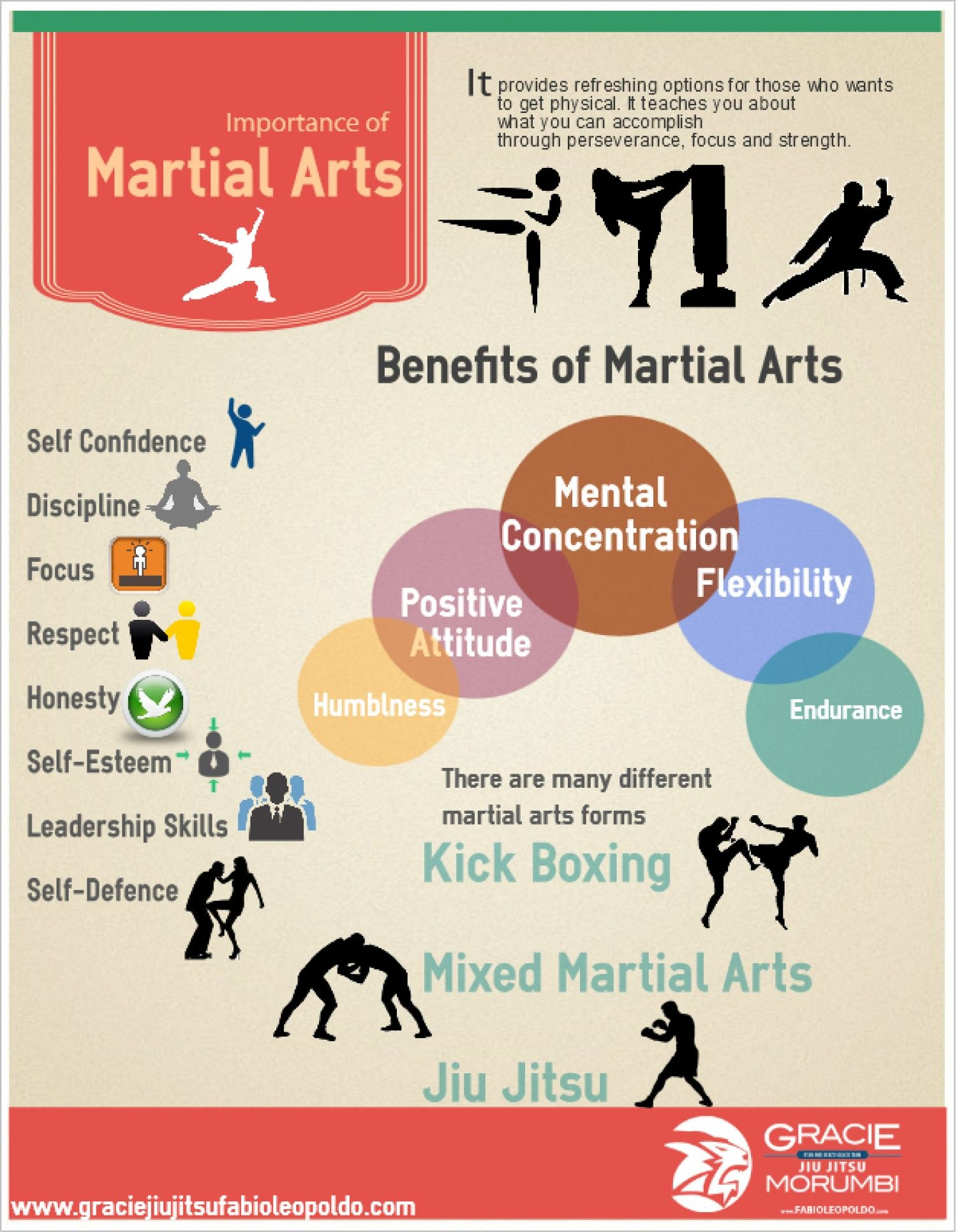 Importance Of Martial Arts Infographic